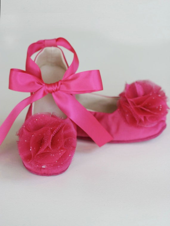 Easter fuchsia toddler shoe spring flower girl shoe baby mightylinksfo