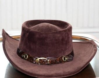 Bailey U Rollit Chocolate Velvet/Suede Western Cowboy hat