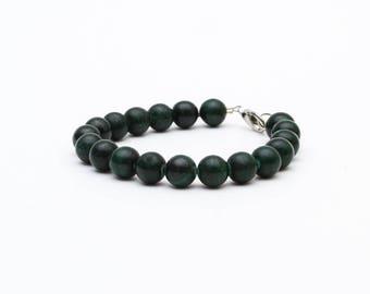 Malachitgrün Armband, Malachit Perlen, Perlen Armband, handgeknüpfte Mala, grünen Stein Armband, Naturstein, Chakra-Armband, Talisman