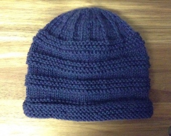 Boys hat, winter hat, boys beanie, blue, ribbed, toddler hat, toddler beanie, toddler winter hat