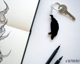 Keychain - Vulture Silhouette