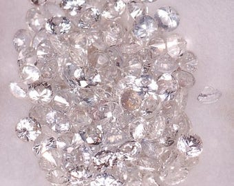 2.5 mm,Colorless White Sapphire-Round
