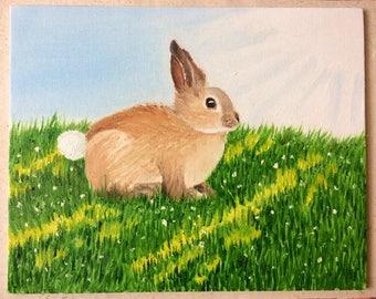 "Bunny ORIGINAL Painting, 8""x10"""