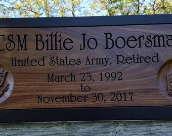Personalized Military Gifts Army, Navy, Air Force, Marine Corps Retirement Gifts For Veterens Military Gifts For Him Custom Decor 2