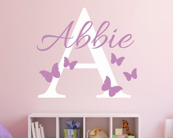 Perfect Custom Name Wall Decal   Butterflies Wall Decal   Girl Custom Name Decal    Baby Room