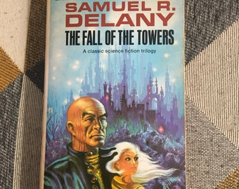 Vintage The Fall of The Towers Samuel R Delany Paperback Book