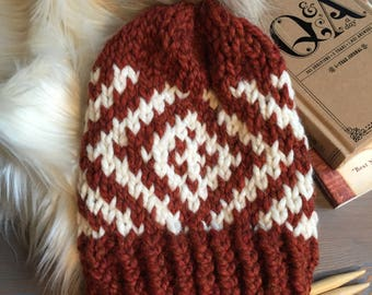 Hand Knitted Hat > Chunky Beanie With Pom Pom > Fur Pom Pom Hat > Cozy Knit Beanie > Winter Hat > Chunky Knit Hat > Slouchy Beanie Hat