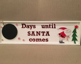 Days Until Santa Christmas Countdown
