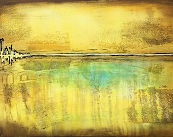 The Mile Of Destiny Original Painting by Artist Rafi Perez Mixed Medium on Canvas 24X36