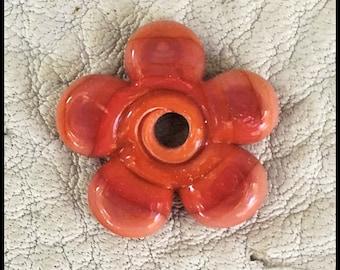 Coral Handmade Lampwork Violet Flower by MMB SRA #U5