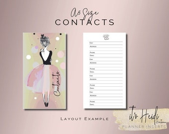 A5 Size Printable Address Book