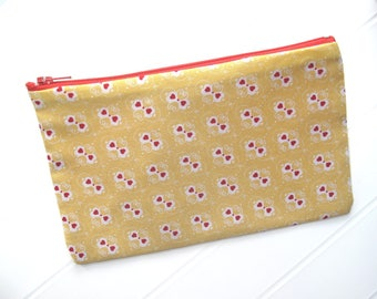 Yellow and red Pouch Makeup organizer