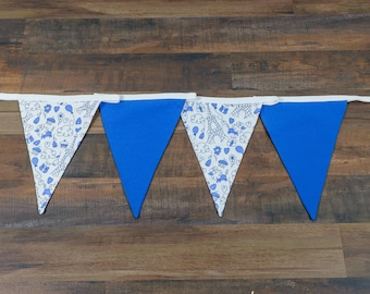 Paris Themed Bunting • French Blue & White Home/Party Decoration Eiffel Tower
