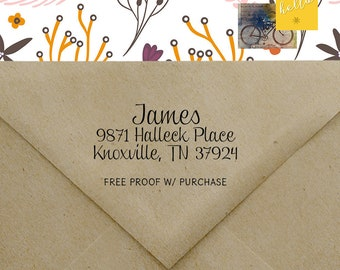 Return Address Stamp, Address Stamp, Self-ink Return Address Stamp, Handle Stamp, Custom Address Stamp, Wedding Stamp, Custom Stamp 20489