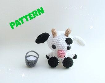 Amigurumi Cow Pattern, Crochet Doll Pattern, Amigurumi Doll Pattern, Crochet Animal Pattern, Amigurumi Pattern, Crochet Amigurumi Pattern