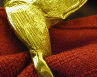 Saluki Napkin Rings Solid Bronze Custom Made Feathered or Smooth Salukis Any Dog Breed