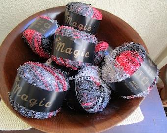 Karabella New Magic Yarn, 9 balls available, Color 4. Lot 787,  Made In Italy