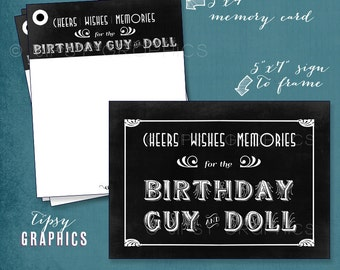 1920s Flapper Memory & Well Wishes Cards . Printable Cards by Tipsy Graphics. Any text and Colors