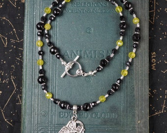 Ritual Necklace For Lilith - Green Jade & Black Onyx - Pagan, Wiccan, Witchcraft - Goddess, Serpents