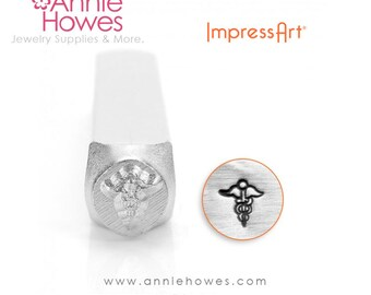 Impressart Metal Stamp  - Medic Caduceus Shape