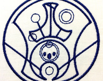 Hello Sweetie in Gallifreyan  Machine Embroidery Design 4x4