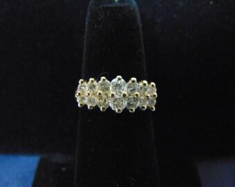 Womens Vintage Estate 14K Yellow Gold & Diamond Ring w/ Appraisal 3.9g E2492