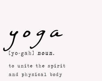 Yoga definition print