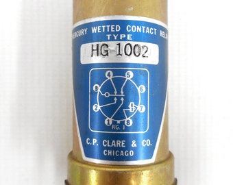 CP Clare & Co Mercury Wetted Contact Relay 8 Pins Model Type HG 1002, Chicago, New Old Stock, NOS