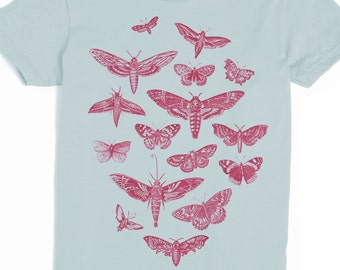 Moth Shirt - Women's Butterfly T-shirt - Vintage Illustration Tshirt - Graphic tee - Insect tee