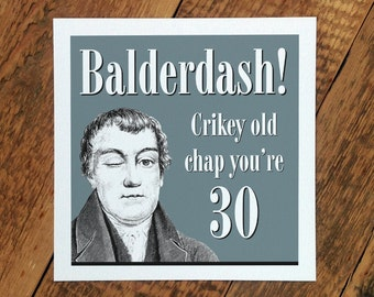 30th Birthday Card For Men; 30th Card For Husband; 30th Birthday Card For Him; GC085