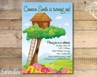 Treehouse Birthday Party Invitation
