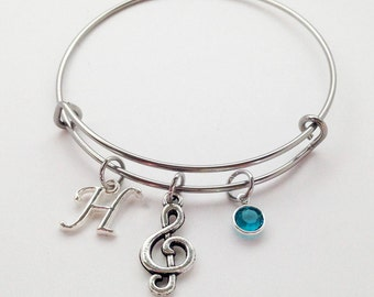 Music Gifts, Music Gifts for Her, Music Jewelry, Music Gifts for Students, Music Note Bracelet, Music Teacher Gift, Music Lover Bracelet