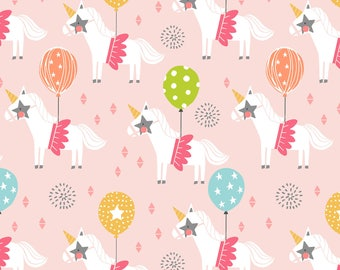 Calliope - Carousel in Pink by Maude Asbury for Blend Fabrics