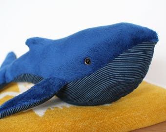 Handmade soft toy whale, plushie, softie, ce toy, baby toy, toddler toy, handmade, home decoration, baby shower gift, baby gift, plush toy