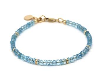 Sky Blue Topaz gemstone bracelet.