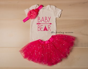 Baby Bear outfit - baby girl clothes - baby bear - baby bear bloomer set - baby shower gift