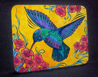Hummingbird with Flowers Cutting Board and Trivet