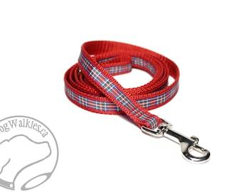 Royal Stewart Tartan Leash // Matching Tartan Dog Leash in all widths // custom lengths // Plaid Leashes // Tartan Lead // Handmade