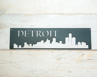 Detroit Skyline Steel Art