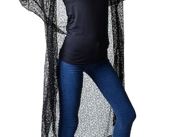 Erin Black Lace Hood