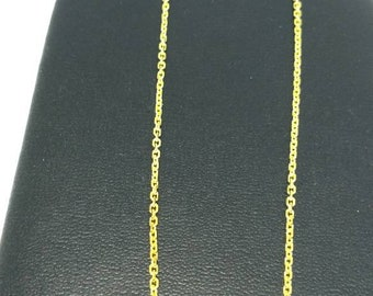 925 Sterling Silver Gold Plated Chain