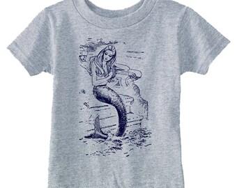 baby clothes - baby mermaid - toddler shirts - toddler mermaid - toddler tshirt - childrens clothing - kids fashion - MERMAID - t shirt