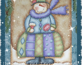 Cupcake Snowie! - Painting With Friends E Pattern by Cyndi Combs & Terrye French
