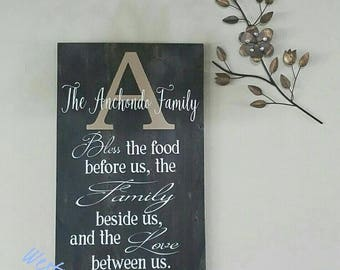 Personalized Bless This Food Prayer