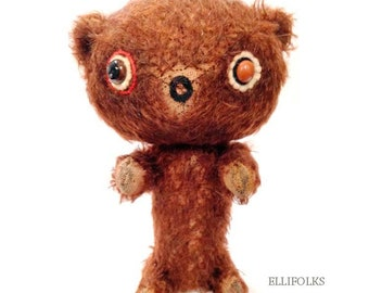 Johnson Whimsical Mohair Artist Bear by Ellifolks