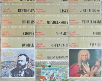 VINTAGE COLLECTION of 15 vinyl 33 t great works of classical music.