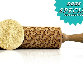 Beagle !  Embossing rolling pin, laser engraved rolling pin