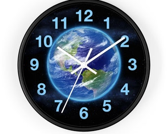 Earth In Space - Wall Clock - Size: 10""