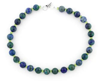 Blue and Green Azurite Necklace KA5382