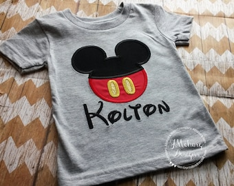 Boy Mouse Custom embroidered Disney Inspired Vacation Shirts for the Family! 718